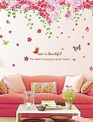 stickers muraux stickers muraux grande fonctionnalité romantique fleur de cerisier PVC amovible lavable