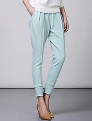 espelho divertido moda elegantes calças de malha fina