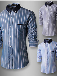 Spurs Men's Fashion Charm Fitted Long Sleeve Shirt