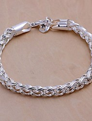6M European Fashion Flower Basket 925 Silver Chain Bracelets(1Pc) Christmas Gifts