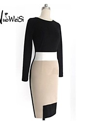 Women's Work Dress Mini Long Sleeve Spring / Summer / Fall / Winter