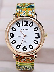 Women's Fabric  Circular High Quality Japanese Watch Movement(Assorted Colors)