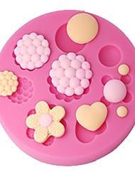 quatro c queque goma botões bolo decoração do molde pasta molde topper, ferramentas de decoração do bolo suprimentos, ferramentas fondant de decoração