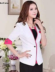 Milaieshow Women's Work Slim Short Sleeve Blazer