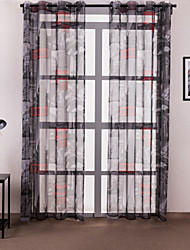 (One Panel) European Architecture Polyester Print Curtain