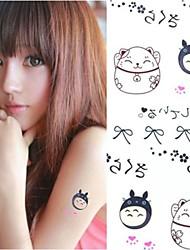 1Pc Comic Totoro Lovely Kitten Tattoo Stickers Temporary Tattoos