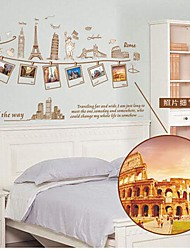 mémoire amovible de l'environnement de voyager sticker mural PVC