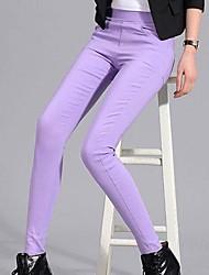 Women Cotton Thin Solid Color Legging