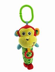 Babyfans ™ Stuffed Cartoon Animal Cute Monkey Baby Soft Rattle Toys