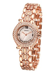 TIME100 Women's Rhinestone Shell Dial Alloy Strap Waterproof Hollow Engraving Quartz Bracelet Watch(Assorted Colors)