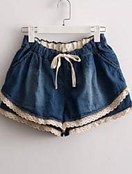 elástico da cintura calças curtas demin da sagetech®women (mais cores)