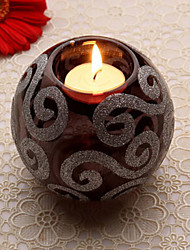 Crystal Decoration Black Candleholder