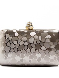 Women's Simple Design Stone Pattern PU Evening Handbag Clutches