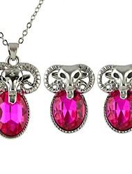 2015 Spring Style Deer Head Rhinestone Jewelry Set