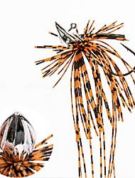 """2 pcs Jigs / leurres de pêche Jigs Orange / Blanc 8 g/7/8 Once mm/1-3/4"""" pouce,PlombPêche en mer / Pêche d'eau douce / Pêche au leurre /"""
