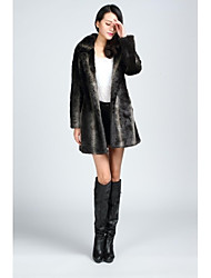 Fur Coats Coats/Jackets Long Sleeve Faux Fur Jackets As Picture