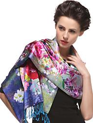 Zizhen occasionnel foulard de soie des femmes