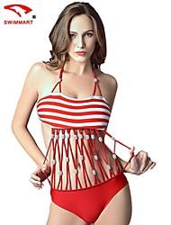 Bikinis/Tankinis/Accesorios de natación/Blusa Traslúcida ( Nilón/Poliéster/Spandex )- Push up/Sin Cables/Sujetadores con relleno - Sin mangas para