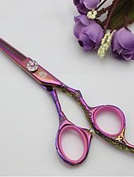 """Offset Kamisori xd-25 titanio gioiello gestire 5.5 """"forbici dei capelli del salone con connessione styling rasoio"""