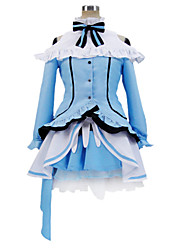 Inspired by Love Live Eri Ayase Anime Cosplay Costumes Cosplay Suits Patchwork Blue Long Sleeve Blouse / Skirt / Headpiece / Socks / Bow
