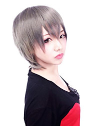 Zipper Cool  Girl Gray Short Punk Lolita Wig