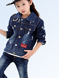 Girl's Worn Out Jeans Coat