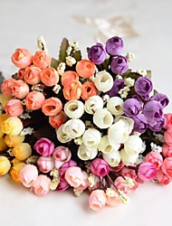 Wedding Décor Decoration Artificial 12 Heads Autumn Rose Flowers 1 Piece Plastic/Silk
