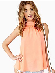 MoonSunday Women's All Match Solid Color Off the Shoulder Shirt