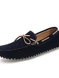 Chaussures Bateau ( Marron/Vert/Bleu marine ) - Confort - Poil de veau