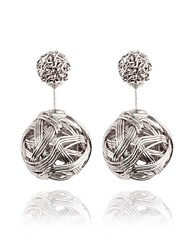 Hollow Spherical Metal Wire Wound Fashion Earrings