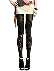 Women Others Medium Solid Color/Metallic Legging