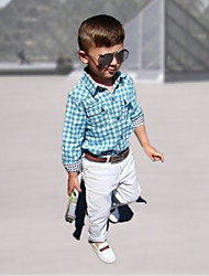 Boy's All Seasons Inelastic Thin Long Sleeve Clothing Sets Thirt and Pants and Belt (Cotton Blends)