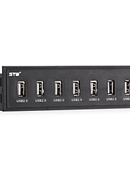 STW 5.25 Inch Desktop Optical Drive Internal 7 Port USB 2.0 HUB Front Panel