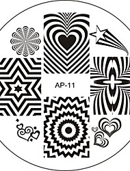 Nail Art Stamp Stamping Image Template Plate AP Series NO.11