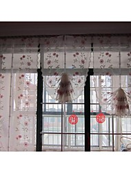 "un panel de 25 ""wx56"" l (65cmwx143cml) floral bordado / poli / botánico / terri wong pura"
