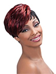 Top Quality Mix color(Bugundy&Black) Fashion Short Straight  Wig Woman's Synthetic Wigs Hair