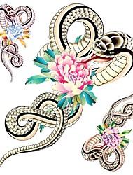 1PC Large Big Temporary Tattoos Tiger Rose Pattern Wedding Party Tattoos Fake Tattoos for Body Art(31*21.5CM)