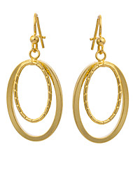 Women's Unique Design Bicyclo 18K Gold Plating Earrings