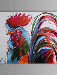 Oil Painting Modern Abstract Cock Hand Painted Canvas with Stretched Frame