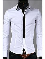 Herrenmode Langarm-Shirt Slim falschen Riegel