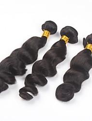 3Pcs/lot 26inch Brazilian Virgin Hair Natural Colour Loose Wave Hair Weaving Human Hair Bundles