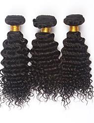 """3pcs / lot 24 """"cheveux vierges péruvien non transformés regroupe couleur naturelle armure profonde de cheveux humains tissage"""