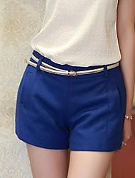 Women's Blue Shorts Pants , Bodycon