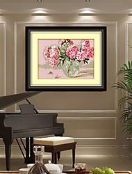 5d DIY passagem de resina diamante plantas privadas ponto de bordado um vaso de rosas casa decoração arte adesivos 25 * 33 centímetros