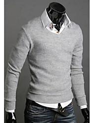 Allen Men's Fashion All Match Solid Color Knitwear