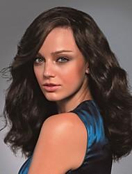 Peluca - para Mujer - Cabello natural - Marrón - Ondulado/Ondulado Natural/Ondulado Amplio