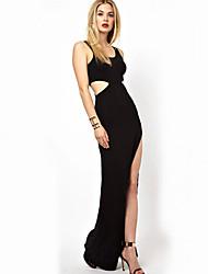 Women's Sexy Bodycon Casual Micro Elastic Sleeveless Midi Dress Chiffon