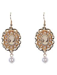 Earring Drop Earrings Jewelry Women Wedding / Party / Daily / Casual / Sports Alloy / Resin / Rhinestone / Enamel 2pcs