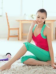 Mujer Yoga Trajes Sin Mangas Rojo Yoga M / L / XL