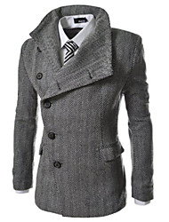 Allen Men's Fashion All Match Solid Color Coat